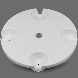 The Beach - Patio Table, 18 Inch Diameter , White