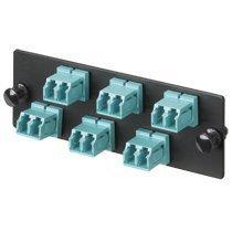 Panduit FAP6WBUDLCZ Single-Mode 6-Port Fiber Adapter Panel with Zirconia Ceramic Split Sleeve, Blue by Graybar Adapter Panel Ceramic Sleeves
