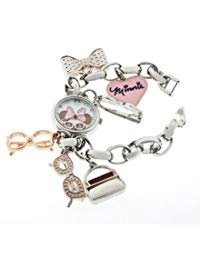 Disney Women's MN2070 Minnie Mouse Mother-of-pearl Dial Charm Watch
