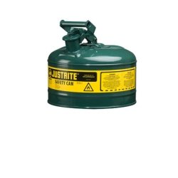 Green Metal Safety Can, Type 1, Two Gallon Capacity, for Oil and Other Flammable Liquids Tools Equipment Hand Tools