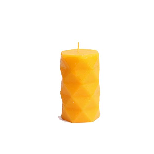Geometric Candle Mold Silicone Beeswax Mold Hexagonal Cylinder Design Silicone Candle Mold