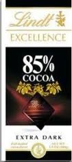 Lindt Excellence Bar (Dark Chocolate 85% Cocoa) - Pack of 4 - Cocoa Extra Dark Chocolate