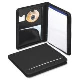 Smead 85840 Zipper Folio, w/Heavy-Duty Pad,1'' Thick, Letter, Black