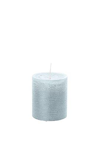 4 candele colorate (H x Ø ) 140 x 98 mm, colore grigio argento, con pellicola ASF per protezione antincendio, Wiedemann Marble candele, Avvento, corona dell'Avvento, Natale, decorazione, evento. corona dell' Avvento Wiedemann Kerzen