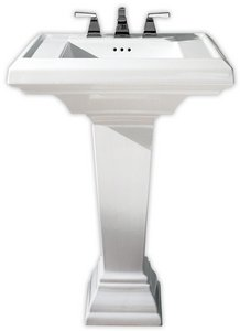 American Standard 0790.008.020 Town Square 24-Inch Pedestal Sink Top with 8-Inch Faucet Spacing, White