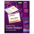 Avery 74459 Neck Name Badge,Soft/Flexible,Top Load,3''x4'',100/BX,White