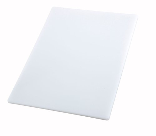 Winco CBWT-1824 Cutting Board, 18 by 24 by 1/2-Inch, White