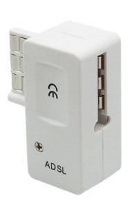 Omenex 491887 - Adaptador ADSL (RJ11, ADSL 2+/ADSL), color