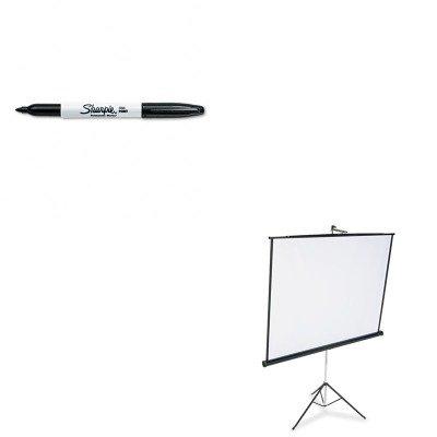 KITQRT570SSAN30001 - Value Kit - Quartet Portable Tripod Projection Screen (QRT570S) and Sharpie Permanent Marker (SAN30001)