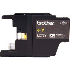 Brother Printer LC75Y High Yield (XL Series) Yellow Cartridge Ink - Retail Packaging from Brother