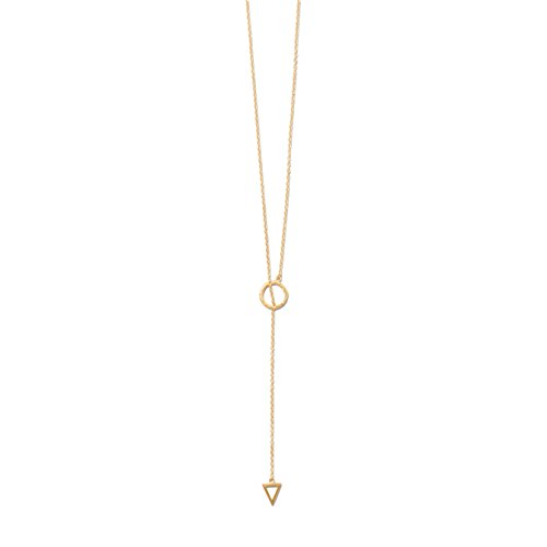 DennyBlaine & Co. 14k Gold Plated Sterling Silver Lariat Necklace, 24