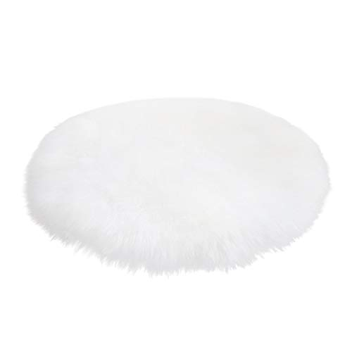 Rug, MaxFox Soft Artificial Sheepskin Rugs Wool Warm Hairy Carpet Floor Blanket for Home Room Decor (White)