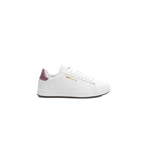 Sneakers Zapatillas Gas Glitter Blanco Jenny Mujer Rosa 51wxPq