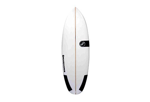 Boardworks 5'6'' Poly Mini Mod 2 Surfboard - white, one size by Boardworks