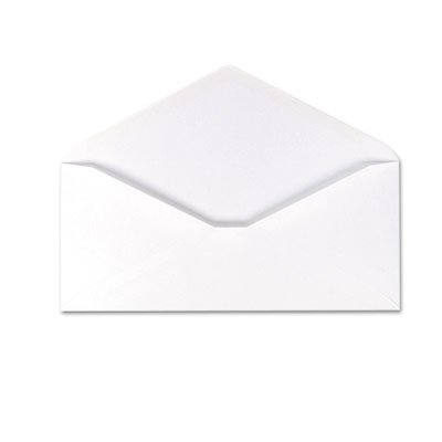 Envirotech Recycled Business Envelope, V-Flap, #10, White, 500/Box