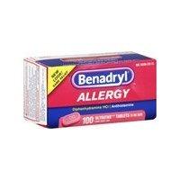 Benadryl Allergy Ultratab Tablets, 100 tablets (Pack of 2) ()