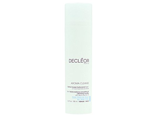 Decleor Aroma Cleanse 3 in 1 Hydra Radiance Smoothing and Cleansing Mouse, 3.3 Fluid Ounce (Foam Ounce Cleansing 3.3)