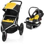 Urbini Avi Jogger Travel System Includes Petal Infant Car Seat And Base YELLOW