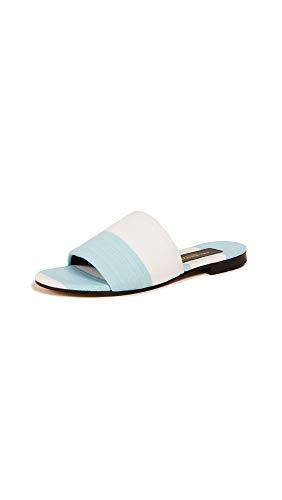AVEC MODERATION Women's Monaco Slide Sandals, Sky Blue, 37 M EU ()