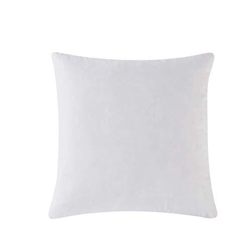 HOMESJUN Feather and Down Pillow Insert, 30x30 Square Decorative Throw Pillow Insert, 100% Cotton, White (30 30 Insert Pillow X)
