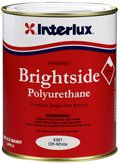Interlux Y4250/QT Brightside Polyurethane Paint (Steel Gray, Quart), 32. Fluid_Ounces