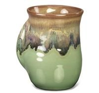 Clay in Motion Handwarmer Mug – Mountain Meadows – Right Handed