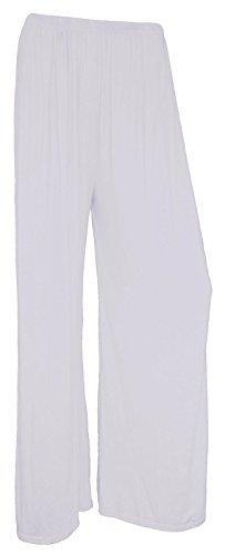 Zee Femme Taille Unique Fashion Pantalon Blanc Multicolore aq8xUf0a