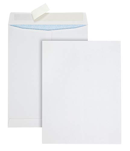 COLUMBIAN Grip Seal Security Tinted Catalog Envelopes, 10 x 13, 28lb, White Wove, 100/Box (CO929)