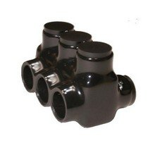 Morris 97694 Morris Products 97694 Multi-Cable Insulated Connector, Black, Dual Entry Connector Type, 4 Ports, 500 - 4 Wire Range,  Black
