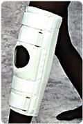 White, Lg, 16 Deluxe Knee Immobilizer by Scott Specialties