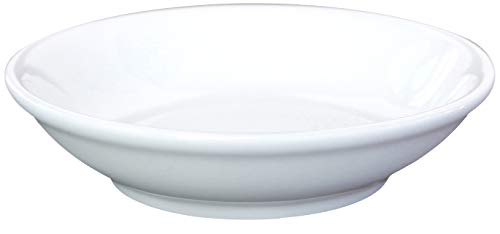 Ceramic Side Sauce Dish and Pan Scraper, 3.75 Inch, 3 Ounce, Bone White, 12-Pack