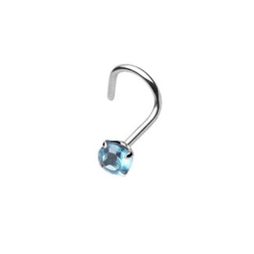 Paula & Fritz® Piercing de nez épais de 8mm 8couleurs À vis avec broche Turquoise