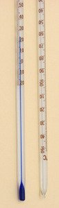 Thermometer Blue Spirit Total Immersion -20 to 150C Single Scale pk 10