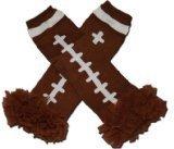 CLEVELAND BROWN - Tutu Chiffon Ruffle Leg Warmers - AMERICAN FOOTBALL (TOUCH DOWN) -