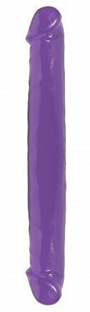 Basix Rubber Works - 12-inch Double Dong - Purple - Best