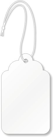 "SmartSign""White Merchandise Tags with Long String"" Easy to Attach, 1.75"" x 2.875"" 