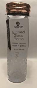 Yoga Water Bottle, Glass Etched Water Sports - Glass Etched Water