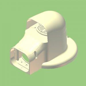 10個セット 配管化粧カバー 換気・フランジ兼用出口化粧カバー(先付用) 77タイプ 適用フランジ径153mm以下 ブラック KF2L-75S-B_set