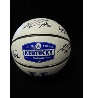 Signed Wildcats, Kentucky (Jamal Murray/Dominque Hawkins/Skal Labissiere/Alex Povthress) Rawlings Collegiate Limited Edition Basketball by Jamal Murray, Dominque Hawkins, autographed