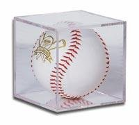 BallQube Softball Holder Display - Sports Memoriablia Display Case - SportsCards Collecting Supplies - Ballqube Softball Holder