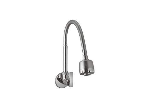 10X Brass Kitchen Sink Tap Flexible ST-6675 with Double Flow(Silver,Chrome Finish)