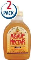 Madhava Organic Agave Nectar Light -- 23.5 fl oz Each / Pack of 2
