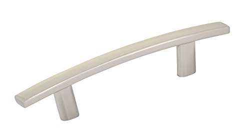 Richelieu Hardware - BP65076195 - Transitional Metal Pull - 650 - 3 in - Brushed Nickel  Finish Richelieu Nickel Pull