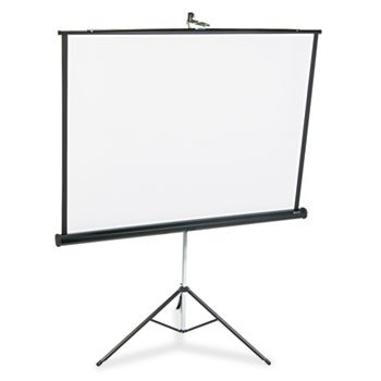 Quartet Portable Tripod Projection Screen, 60 x 60 Inches, High-Resolution, Matte Surface (560S)