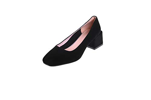 Comfort BalaMasa Pumps Womens Shoes Black Urethane Nubuck Solid APL11163 6wtraw