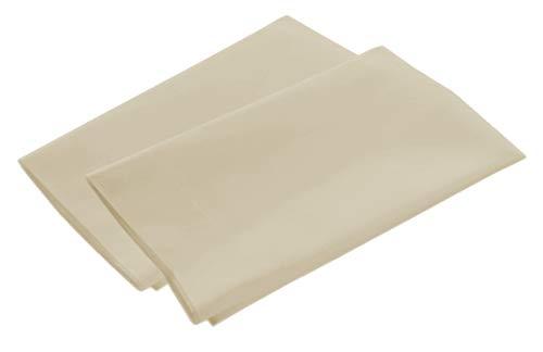Luxury Egyptian Cotton 300 Thread Count 2-Piece Pillowcase Set 21 x 32 Inch - Standard, Ivory