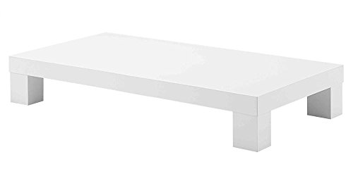 Global Furniture USA Low-Profile Rectangular Coffee Table in White Finish