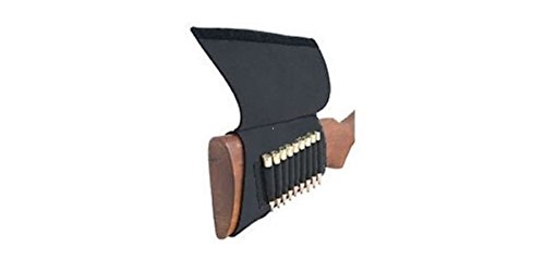 AA&E Leathercraft 8600245-010 Neoprene Butt Stock Rifle Shell Holder, Black (Pro Stock Leather)