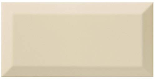 Bevelled Edge Metro Cream Ceramic Wall Tile 200 x 100 x 0.5m2 = 25 tiles