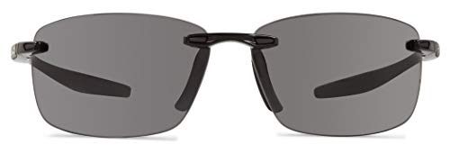Revo Unisex RE 1070XL Descend Oversized Rectangular Polarized UV Protection Sunglasses, Black Frame, Graphite Lens